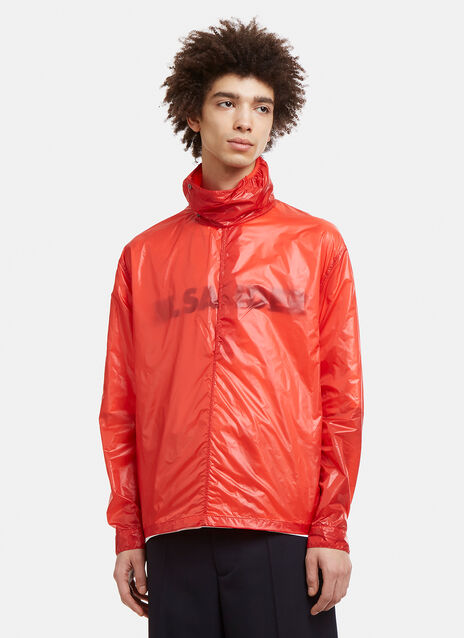 Jil Sander Funnel Neck Windbreaker Jacket