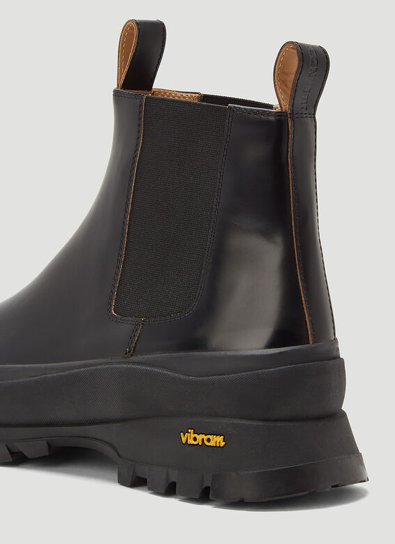 Jil Sander ANKLE BOOT - ANTICK 999 NERO+SUOLA GOMMA NERA 5