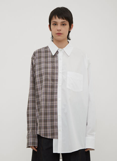 Vaquera Split Back Patchwork Shirt