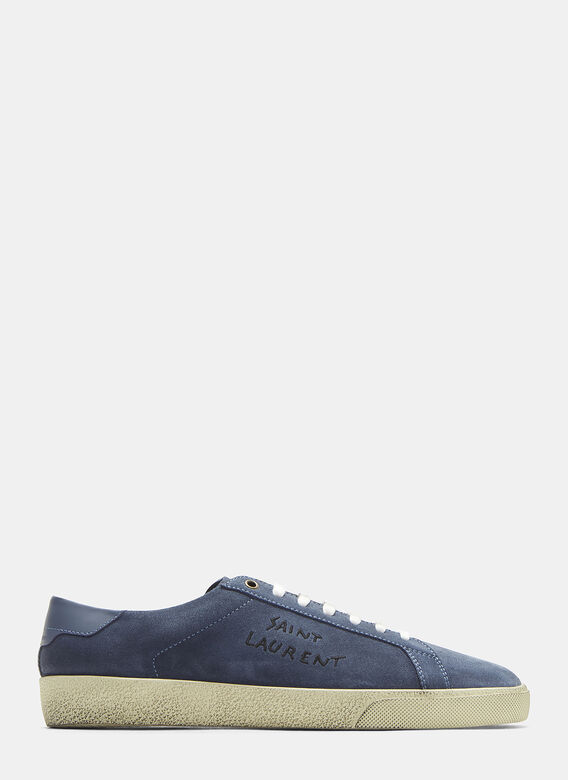 Sl/06 Court Classic Sneakers In Blue by Saint Laurent