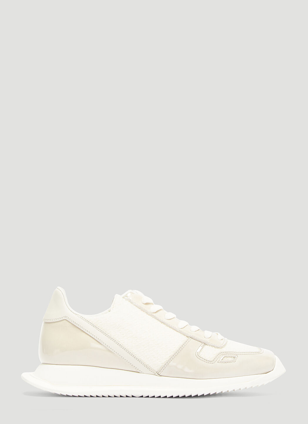 Rick Owens Oblique Hairy Sneakers in
