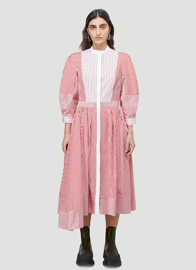 Alexander McQueen Striped Shirt Dress