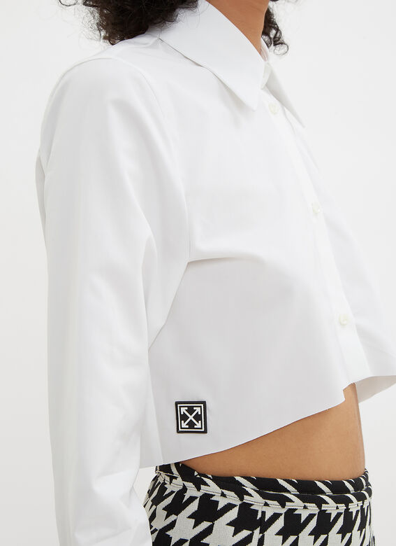 Off-White Cropped Shirt