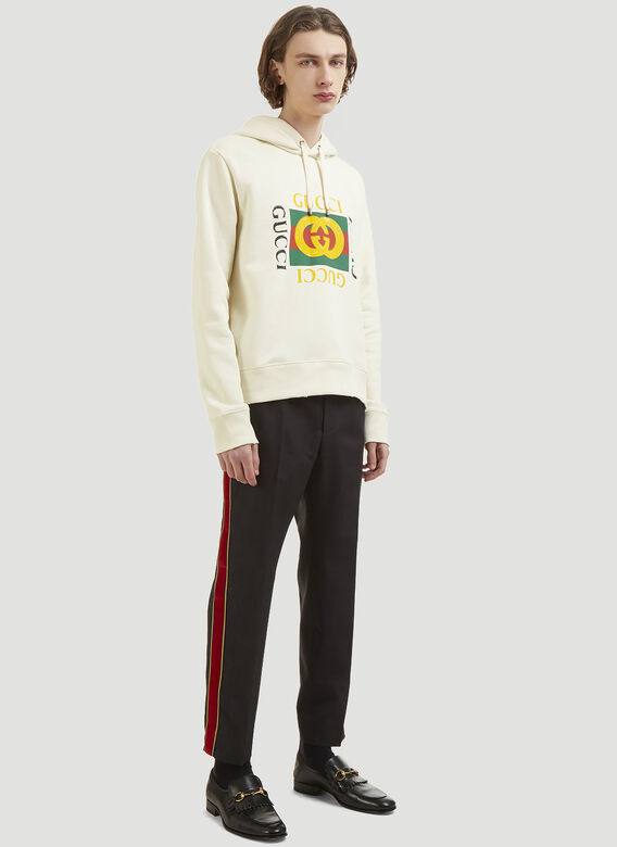Gucci Logo Hooded Sweater 2