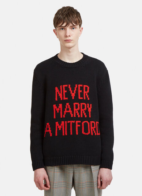 Gucci Never Marry A Mitford Knit Sweater