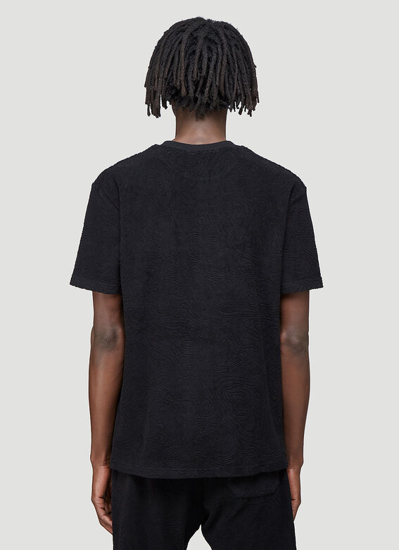 """032C """"Topos"""" Shaved Terry T-Shirt Black 100% CO 4"""