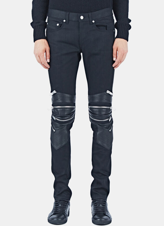 08fb9f043ffa16 Saint Laurent Denim Biker Pants | LN-CC