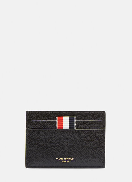 Thom Browne Dog Embossed Pebble Grained Card Holder