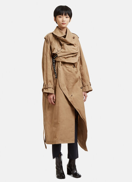 Facetasm Structured Asymmetrical Raincoat