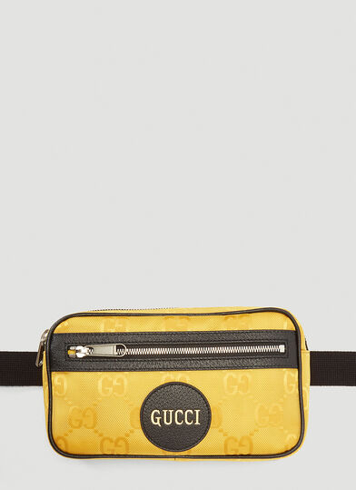 구찌 Gucci Eco-Nylon Belt Bag in Yellow