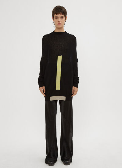 Rick Owens Biker Level Round Neck Sweater