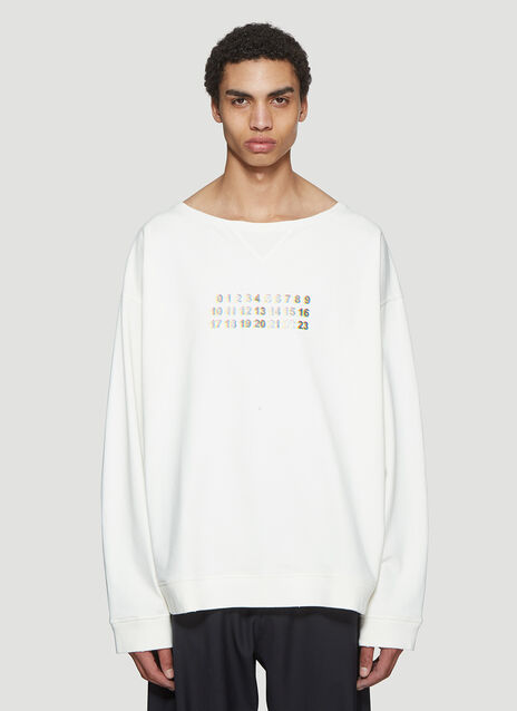 Maison Margiela Number Crew Neck Sweater