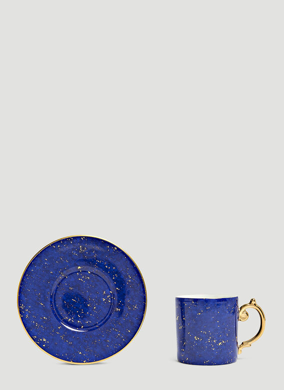 L'Objet Set-of-Six Lapis Espresso Cup and Saucers 2