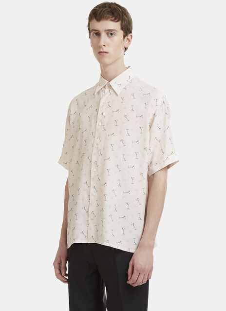 Fendi Short Sleeve Cocktail Print Shirt