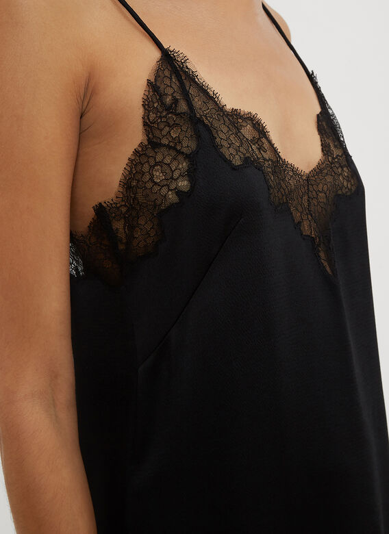 Valentino Lace Trim Cami Slip Dress