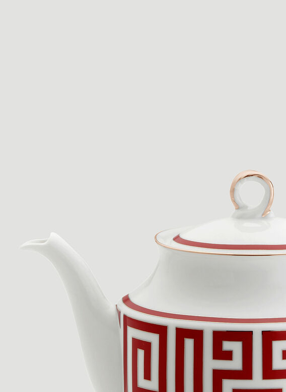 Ginori 1735 Labirinto Teapot With Cover For 6 Lt 0,90 Oz. 30 1/2 Impero Shape 2