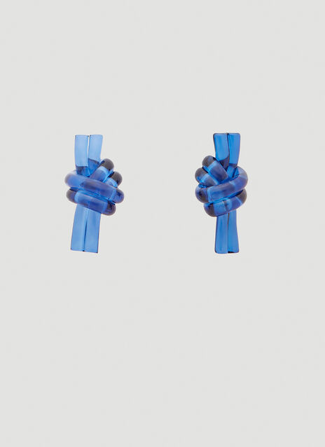 JW Anderson Perspex Knot Earrings