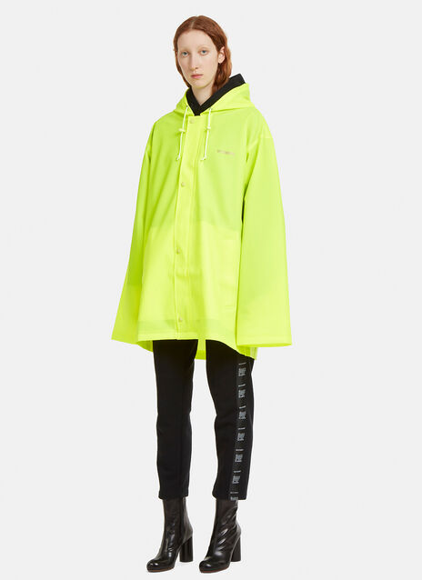 Vetements Short Logo Printed Rain Coat