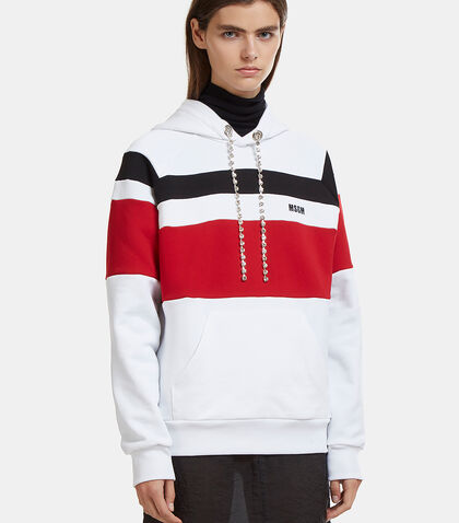 Glamour Stripe Hooded Sweater