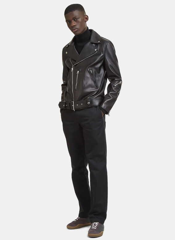 79b009dea6 Acne Studios Nate Clean Leather Jacket in Black