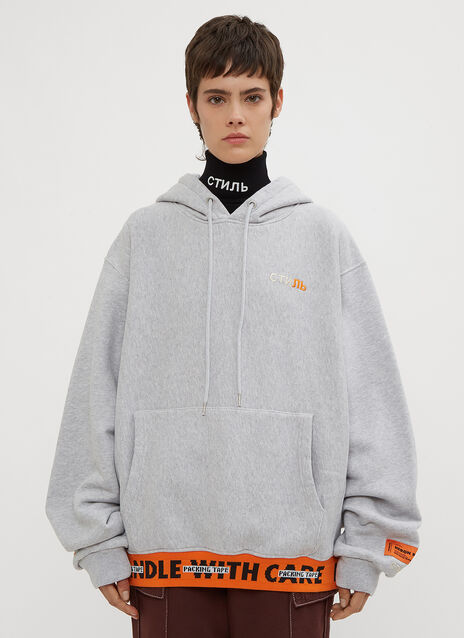Heron Preston Hooded Handle With Care Sweater