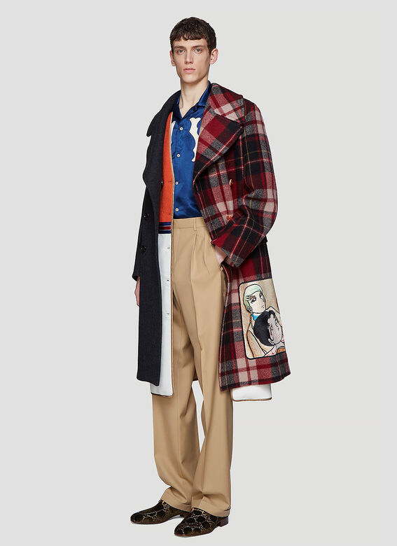 Gucci Viva! Volleyball Patchwork Coat