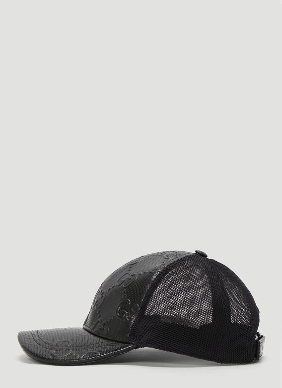 Gucci OVERSIZED EMBOSSED GG TENNIS TRUCKER CAP 3