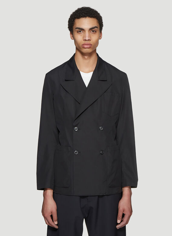 Double Breasted Blazer In Black by Maison Margiela