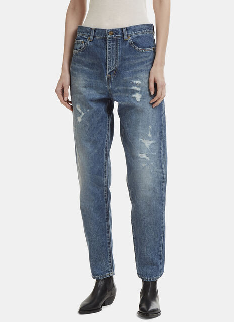Saint Laurent Distressed Baggy Jeans
