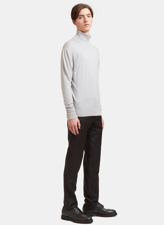 Aiezen Ribbed Roll Neck Sweater 2