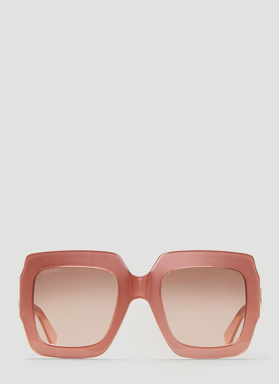 c047caf7593 Gucci Square Frame Sunglasses in Pink