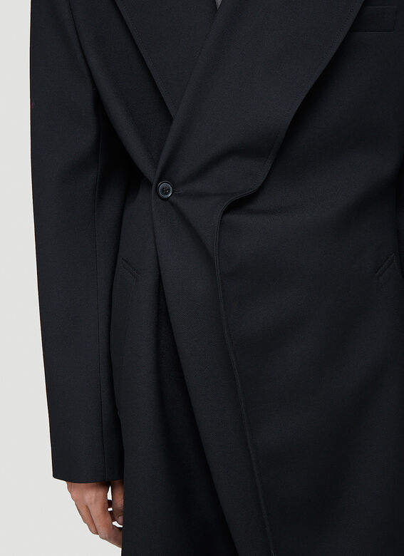 Y/Project Classic Twisted Lapel Coat 5