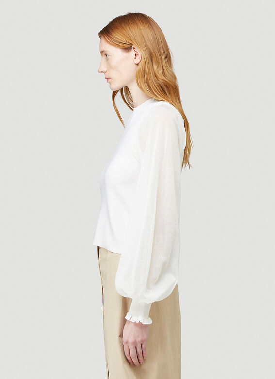 JW Anderson DETACHABLE SHEER SLEEVE FITTED TOP 3