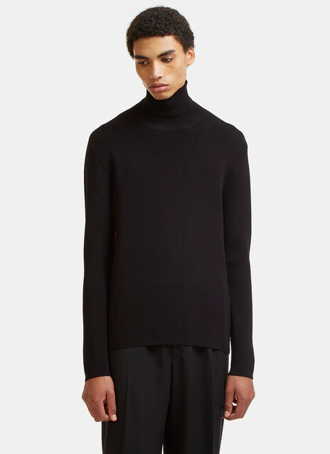 Colour-Blocked Roll Neck Sweater