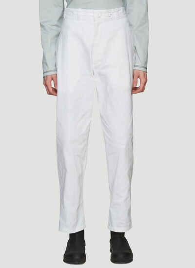 MAN-TLE Tapered Wax Cotton Pants