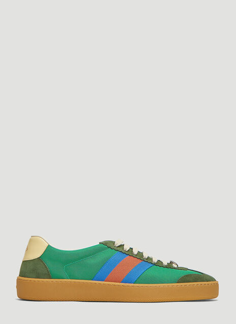 Gucci G74 Nylon Web Sneakers