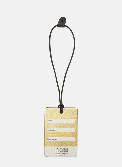 Maison Margiela Gold Luggage Tag