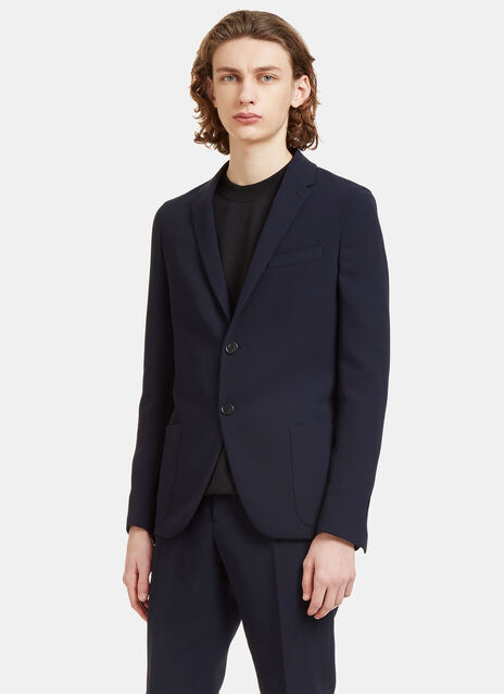 Technical Single-Breasted Blazer Jacket