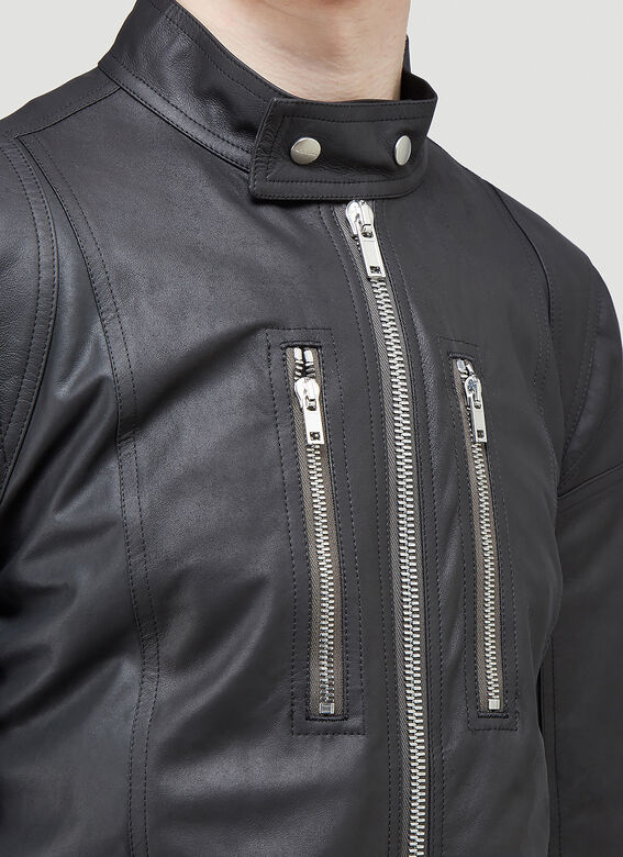 Rick Owens TIES LEATHER JACKET 5