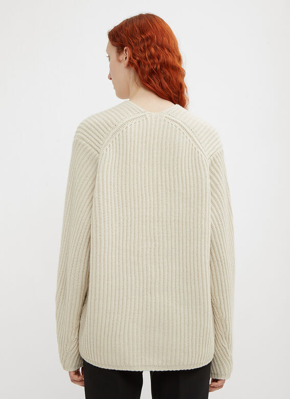 Acne Studios Deborah Deep V-Neck Knit Sweater