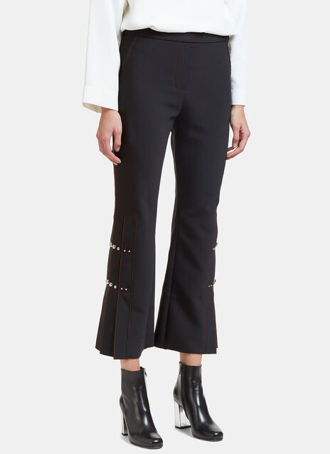 Montana Cropped Pleat Studded Pants