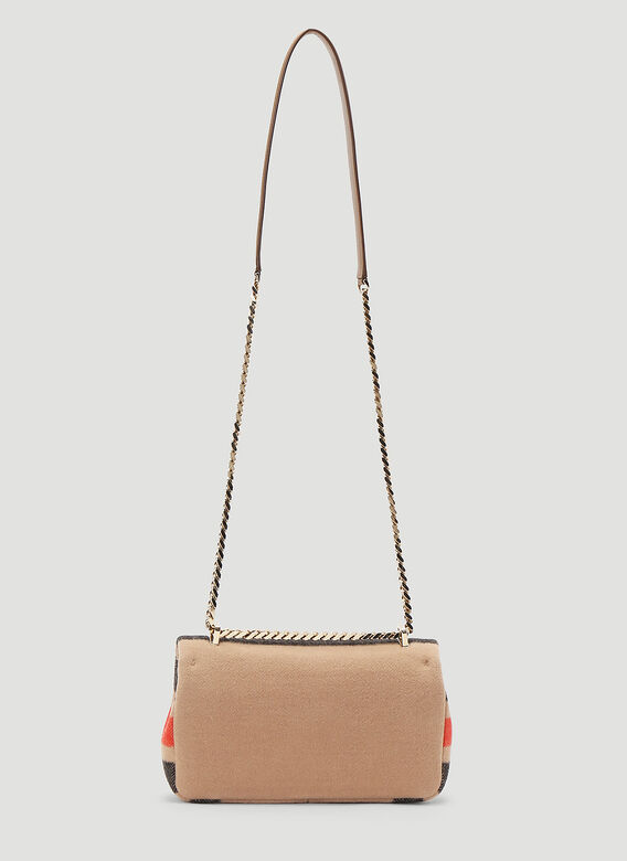Burberry Lola Striped Wool Small Shoulder Bag 4