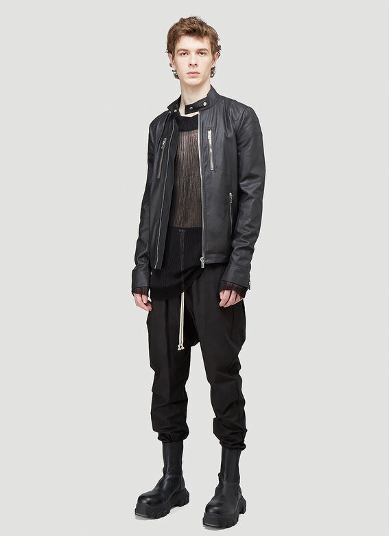 Rick Owens TIES LEATHER JACKET 2
