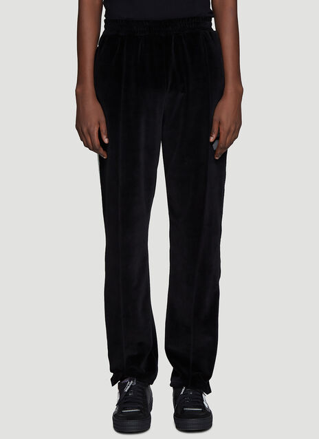 Off-White Velvet Track Pants