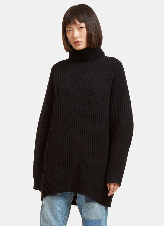 80fa06dd75ec3 Acne Studios. Women s Isa Oversized Ribbed Roll Neck Sweater in Black