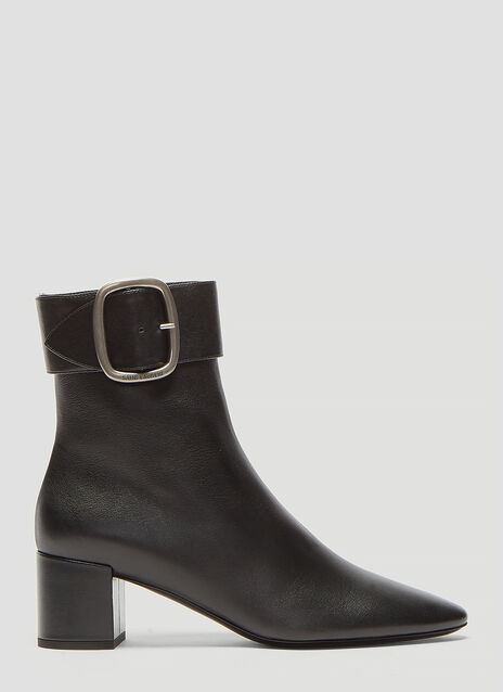 Saint Laurent Joplin Leather Buckle boots