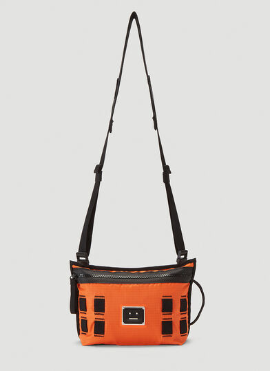 아크네 스튜디오 Acne Studios Face Plaque Crossbody Bag in Orange