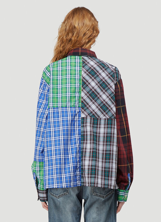 (Di)vision Deadstock Checked Patchwork Shirt 4