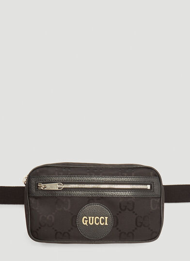 구찌 Gucci Eco-Nylon Belt Bag in Black