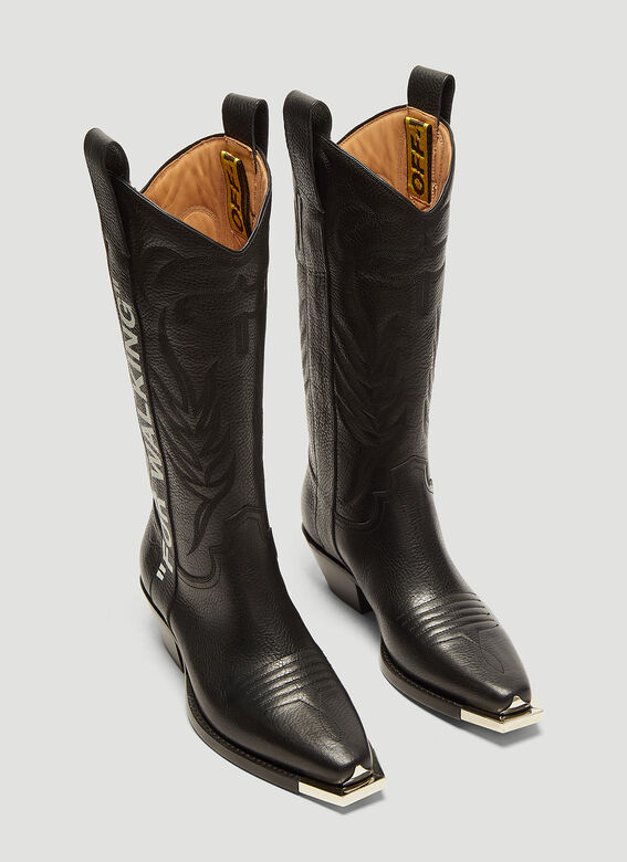 b83a1b74e22 Off-White For Walking 40 Leather Western Boots | LN-CC